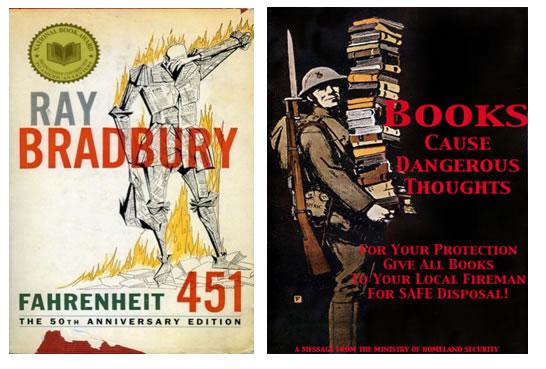 Fahrenheit 451 : the temperature at which books burn